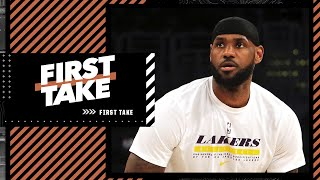 LeBron's deleted a fiery tweet to Lakers critics. First Take debates L.A.'s title chances