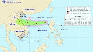 Tin Áp thấp nhiệt đới  Đêm 08/10/2017 : Áp Thấp vào Biển Đông, mưa lớn trên diện rộng
