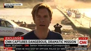 CNN Reporter Ivan Watson  Aboard Rescue Helicopter Describes 'Terrifying' Scene In Iraq