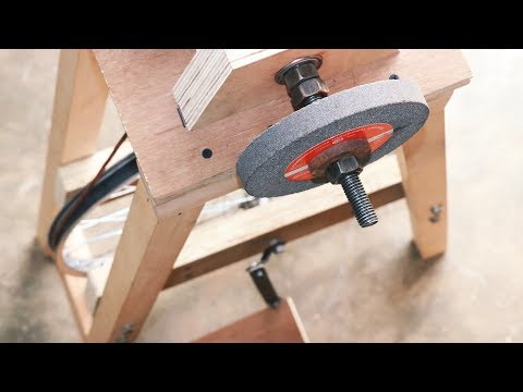 Homemade Project Using Bicycle Wheel    Make A Grinding Machine