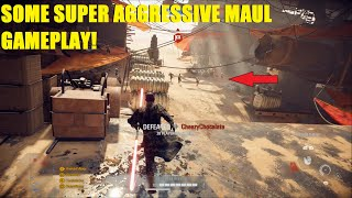 Star Wars Battlefront 2 - Some Super aggressive Darth Maul gameplay! Good Mauls ALWAYS are moving!