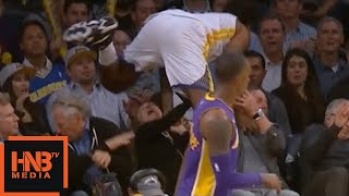 Nick Young Flew To The Stands / Crazy Swaggy P :D / LA Lakers vs GS Warriors