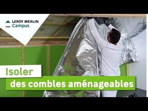 comment isoler des combles am nageables leroy merlin youtube. Black Bedroom Furniture Sets. Home Design Ideas