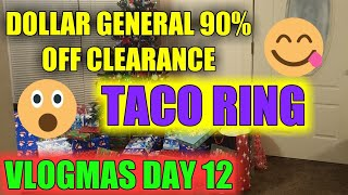 Dollar general clearance|taco ring|vlogmas
