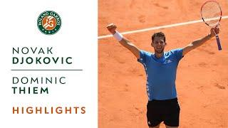 Novak Djokovic vs Dominic Thiem - Semi-Final Highlights   Roland-Garros 2019