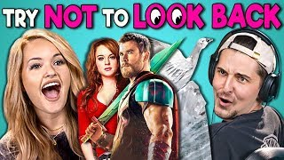 College Kids React To Try Not To Look Back Challenge