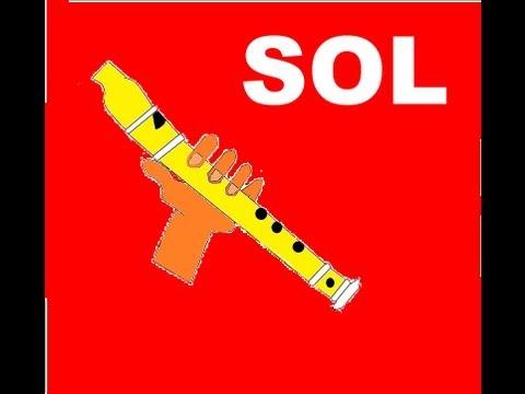Canción fácil para flauta dulce + guía+ pista  N°6