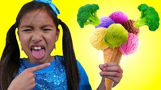 Do You Like Broccoli Ice Cream Song | Wendy Pretend Play Singing Kid Nursery Rhymes
