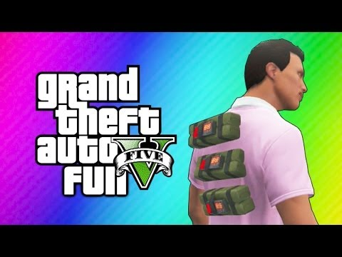 GTA 5 Online Sticky Bomb Glitch - Carlos vs. Stripper, Floating Bong! (GTA 5 Funny Moments) - VanossGaming  - EnaPvWW3Nco -
