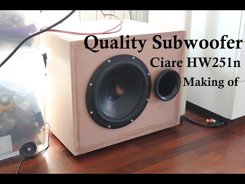 Ciare autocostruite crossover modificato 4 vie musica for Costruire box subwoofer