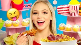 MAC N CHEESE WITH KETCHUP?!! | Let's Mukbang w/ Jordyn Jones