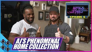 AJ STYLES' PHENOMENAL HOUSE OF RETRO VIDEO GAMES! - Retro Styles #6