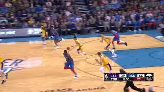 2nd Quarter, One Box Video: Oklahoma City Thunder vs. Los Angeles Lakers