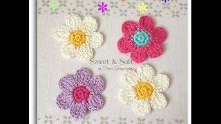 Como hacer una flor a crochet ...La magia del crochet