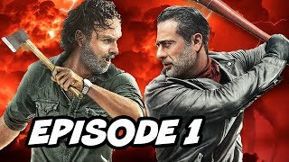 Walking Dead Season 8 Episode 1 - All Out War TOP 10 WTF and Easter Eggs