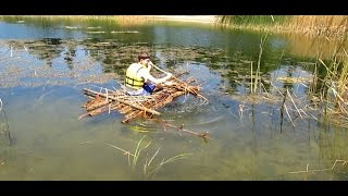 How to Build a Raft out of ONLY Sticks and 4 pieces of paracord