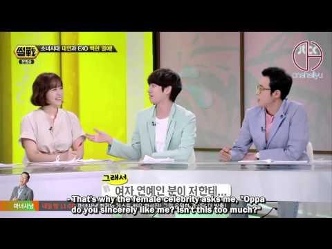 [140626] Jtbc War of Words - Baekhyun+Taeyeon Cut