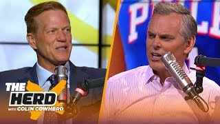Ric Bucher would move Simmons over Embiid, talks Kyrie leaving Boston & free agency | NBA | THE HERD