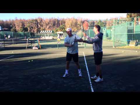 1H Backhand Lesson at Saddlebrook with Howard Moore