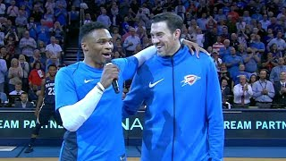 Russell Westbrook's Special Moment with Nick Collison | April 11, 2018 | 2017-18 NBA Season