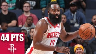 James Harden erupts for 44 points in Rockets-Grizzlies showdown | 2019-20 NBA Highlights