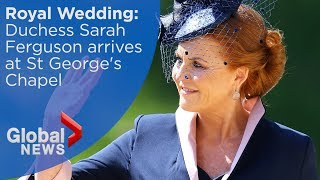 Royal Wedding: Sarah Ferguson, Duchess of York arrives at Windsor Castle
