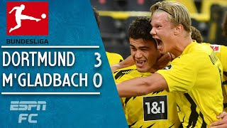 Erling Haaland & Gio Reyna shine in Dortmund's win vs. Borussia M'Gladbach | Bundesliga Highlights