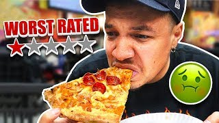 Eating At The WORST Reviewed PIZZA Restaurant In The City (Under 1 Star Rated)