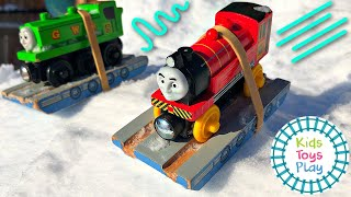 Thomas and Friends GIANT Downhill Snow Races Compilation