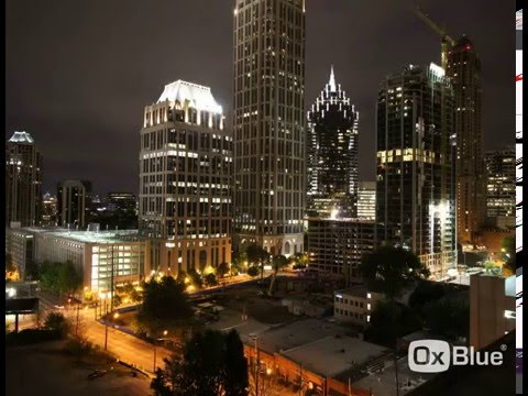 Midtown Atlanta tower crane time-lapse video