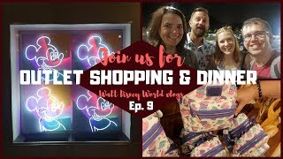 Disney World Vlogs 2019   Disney Outlet Shopping & Dining at The Wave with Friends   KrispySmore