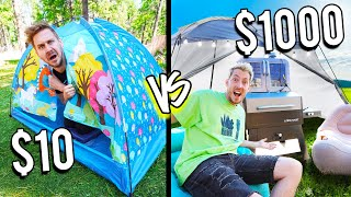 $10 VS $1000 OUTDOOR FORTS! *Budget Challenge*