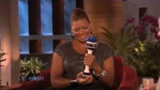 Ellen gives Queen Latifah a Shake Weight