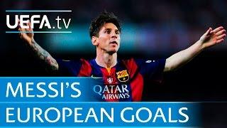 Lionel Messi - 86 European goals