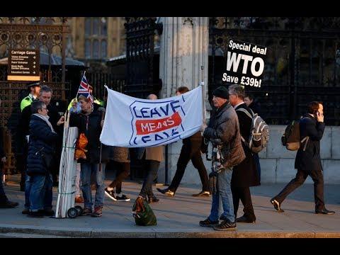 英國國會否決重新協商脫歐 梅伊未出席 20190215 公視中晝新聞