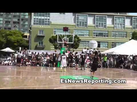 Chris Brown vs Gilbert Arenas On Basketball Court