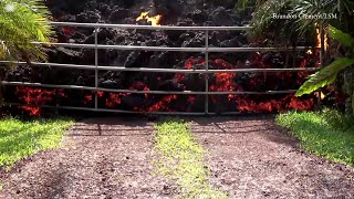 WEB EXTRA: Lava from Kilauea volcano consumes a car in Hawaii.