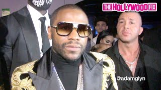 Floyd Mayweather Talks Logan Paul & Jake Paul While Arriving To His Birthday Party In Florida