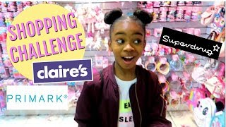 MY FIRST TIME MAKEUP SHOPPING | £20 MAKEUP CHALLENGE | CLAIRES SUPERDRUG PRIMARK