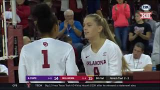 Kansas State at Oklahoma Volleyball Highlights