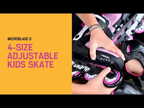 Video ROLLERBLADE Children's roller MICROBLADE G - 21 Pink white