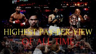 TOP 3 HIGHEST PAY-PER-VIEW BOUTS