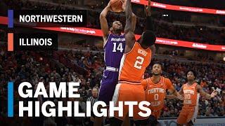 Highlights: Giorgi Drops 26 as Illini Advance in OT | Northwestern vs. Illinois | March 13, 2019