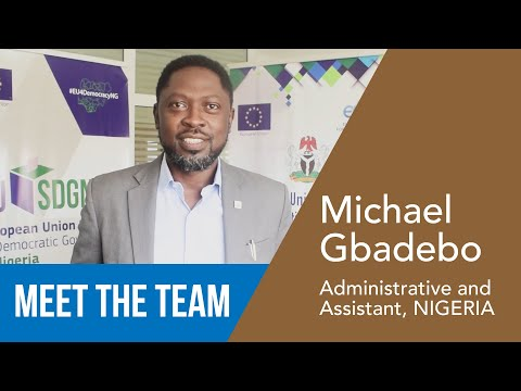 Michael Gbadebo - Administration and Finance Assistant, NIGERIA