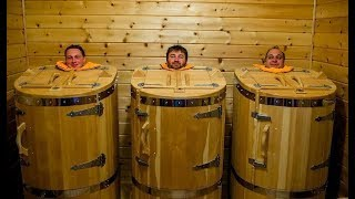 BARREL SAUNA ROUND WOOD CEDAR | HOME SPA STEAM BATH KITS