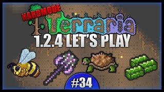 Chlorophyte Grind! Venom Staff! Spelunking! || Let's Play Terraria 1.2.4 [Episode 34]