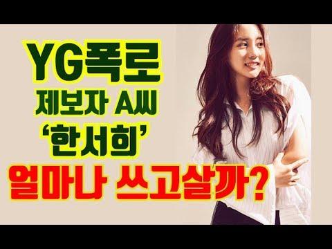 YG제보자 '한서희' 재산과 재력 총공개 | 두유노