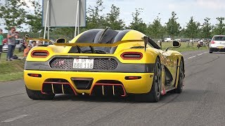 Supercars & Sportcars Accelerating LOUD! Regera, Agera RS, Aventador, GT2RS, C63S