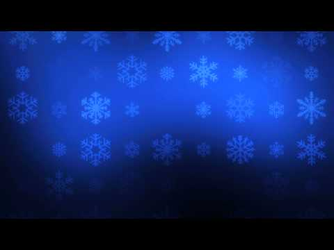 Falling Snowflakes on Blue - HD Video Background Loop