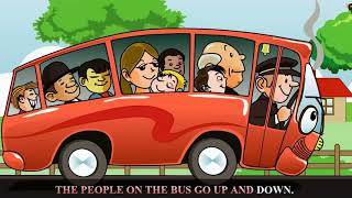 The Wheels On The Bus Go Round and Round with lyrics   Nursery Rhyme